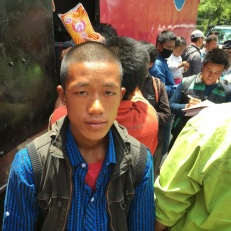 Bikdenra Lama lost his six-month-old baby in the quake.